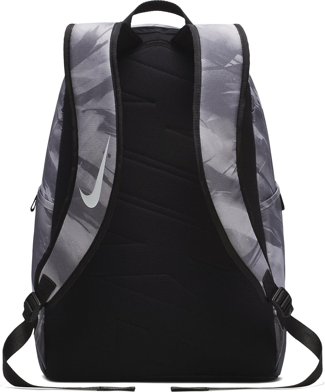 Nike Brasilia All Over Print Backpack, Atmosphere GreyBlackWhite, X Large