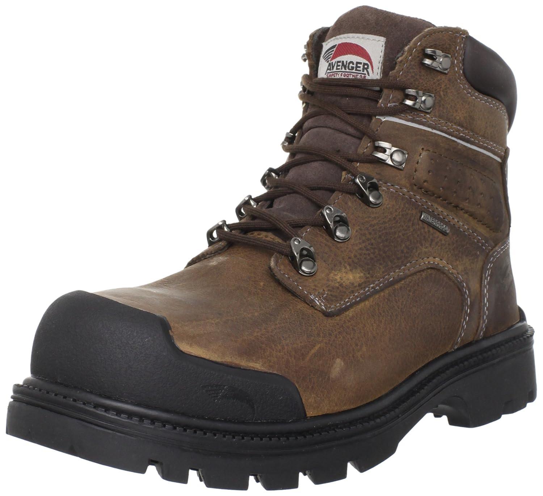 Avenger Safety Footwear メンズ B005BK6AVM 11 B(M) US|ブラウン ブラウン 11 B(M) US