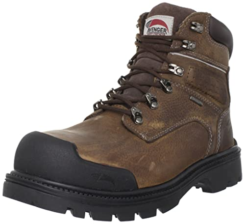 b107b340db3 Avenger 7258 Leather Waterproof Steel Toe Puncture Resistant High Abrasion  EH Work Boot