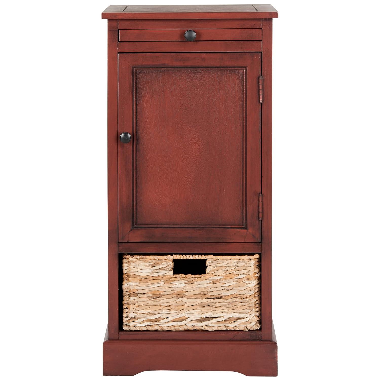 Safavieh American Homes Collection Raven Dark Cherry Tall Storage Unit AMH5703D