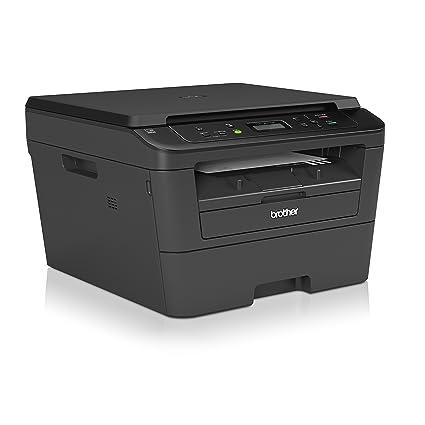 Brother DCP-L2520DW - Impresora multifunción láser monocromo (impresión automática a doble cara, WiFi), color negro [España]