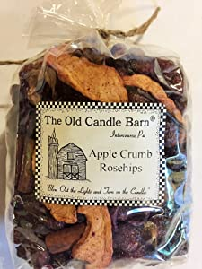 Old Candle Barn Apple Crumb Rosehips 4 Cup Bag - Well Scented Potpourri - Made in USA