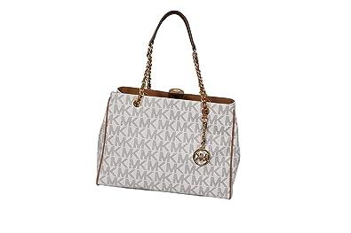 fd6df239f9d7 Michael Kors Women's Handbag (Vanilla and Acorn): Amazon.in: Shoes ...