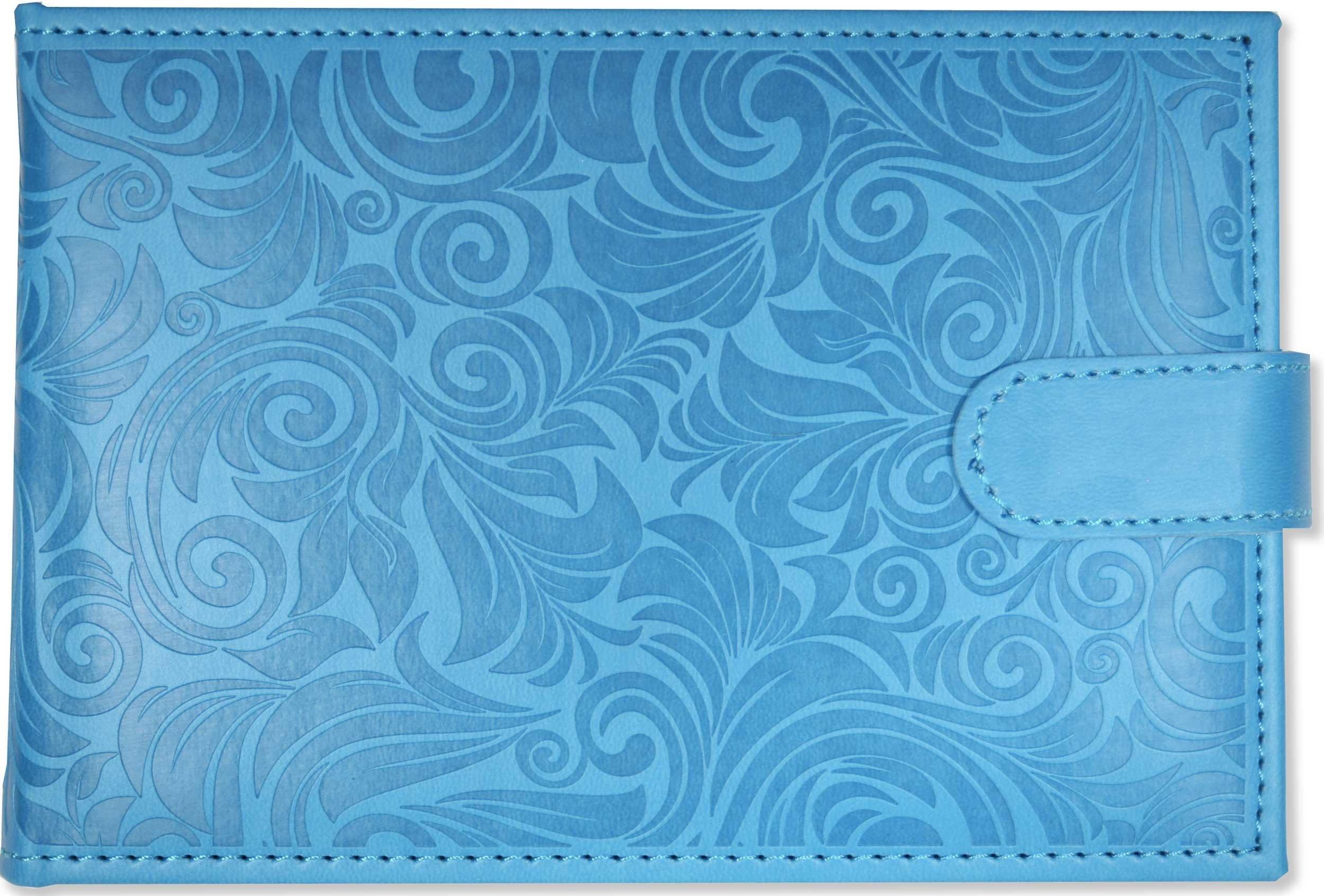 """Sky Blue Photo Album (Holds 48 4"""" x 6"""" photos, Brag Book)"""