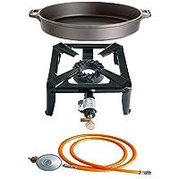 Gas-Brenner schwarz klein Burner 1-flammig Balkon Camping Picknick ✔ rund ✔ Grillen mit Gas