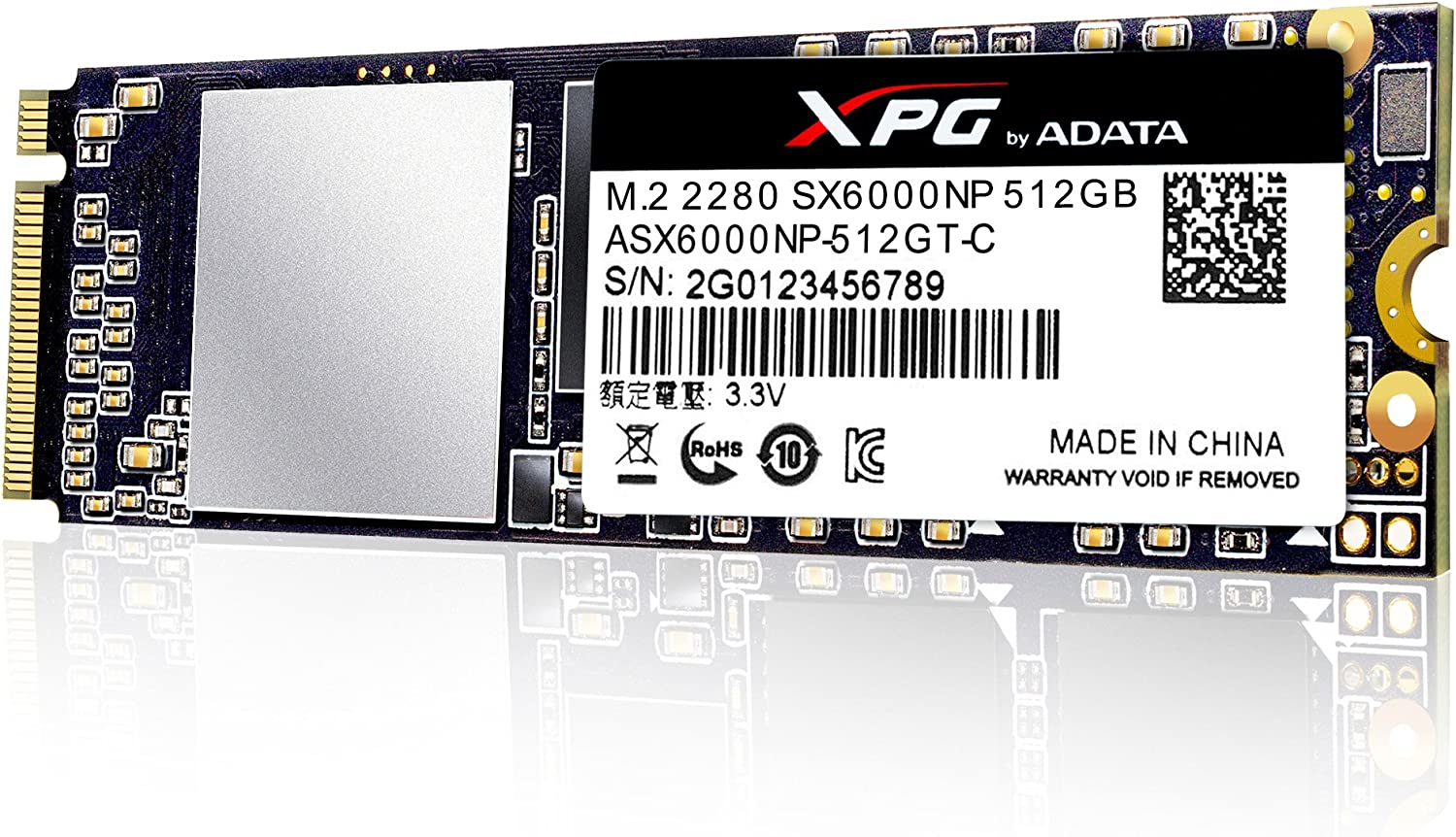 XPG SX6000 512 GB PCI Express 3.0 M.2 - Disco Duro sólido (512 GB ...
