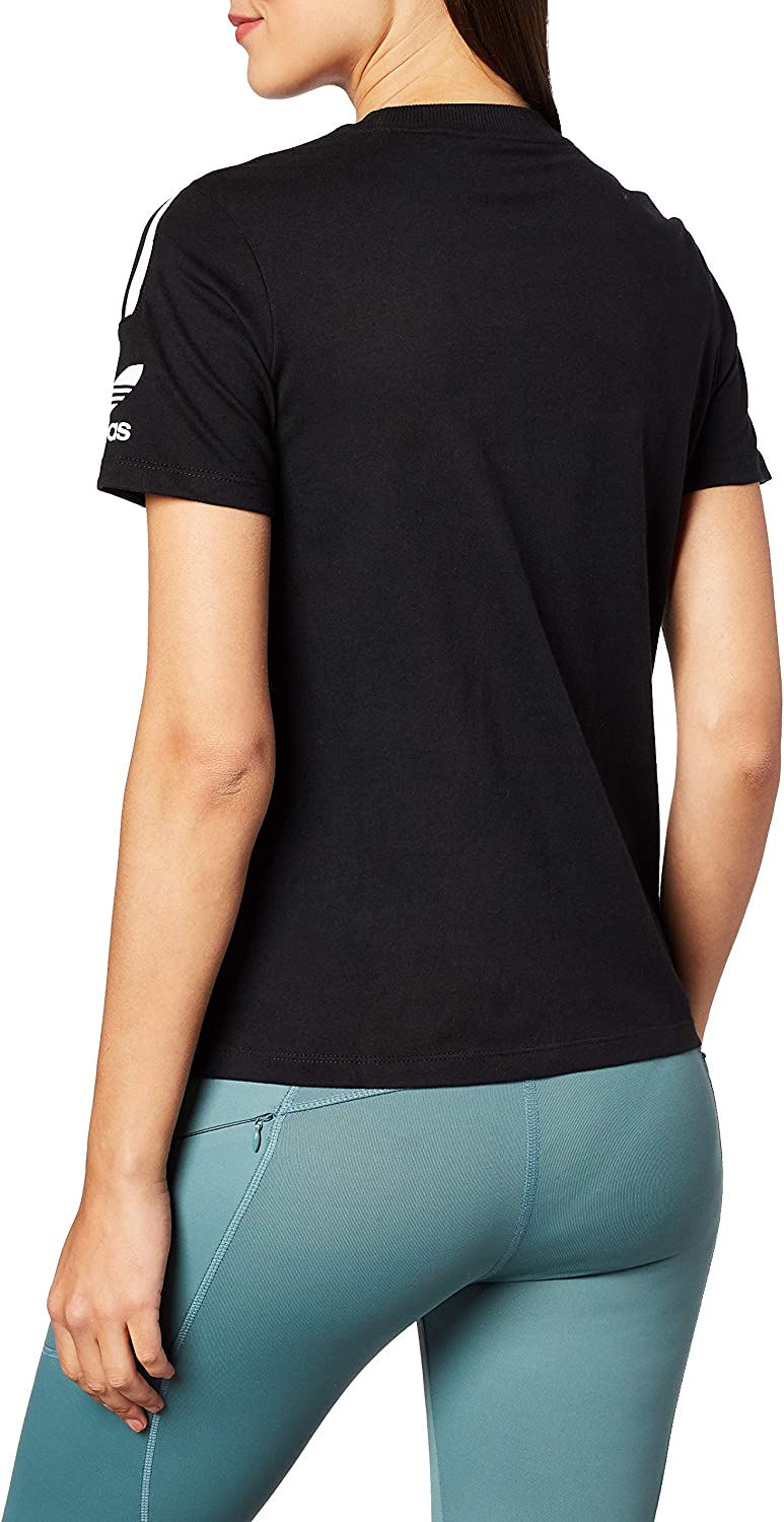 adidas - 3 Stripes Tee, T-Shirts Donna Nero