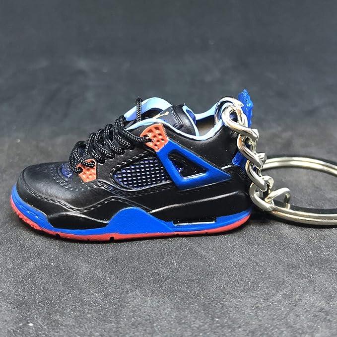 111012ef8e5 Amazon.com   Air jordan IV 4 Retro Cavs Royal Orange Blue Sneakers Shoes 3D  Keychain   Everything Else