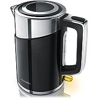 Arendo - 3000 Watt Edelstahl Wasserkocher | Cool-Touch Doppelwand-Design | 3000 Watt Leistungsaufnahme (Schnellkoch Wasserkocher) | Strix-Controller/automatisch Abschaltung