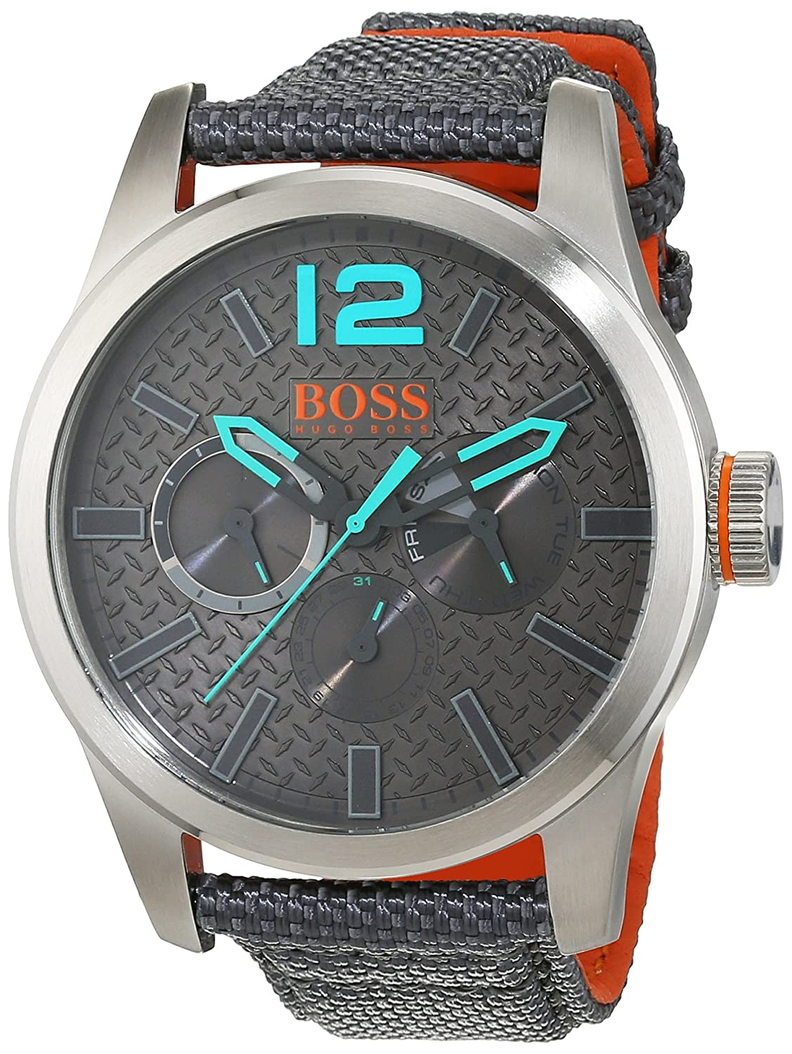BOSS Orange Herren-Armbanduhr PARIS Analog Quarz Textil 1513379