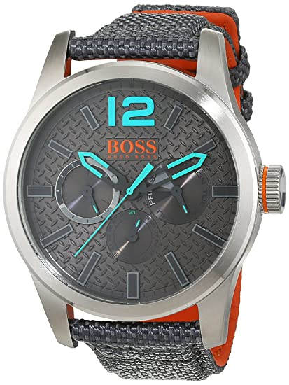 Hugo Boss Orange 1513379 - Reloj de pulsera analógico para hombre (correa de nailon,