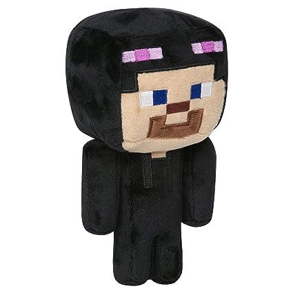 Jinx Minecraft Happy Explorer Steve In Enderman Costume Plush Stuffed Toy Blackpurple 7 Tall
