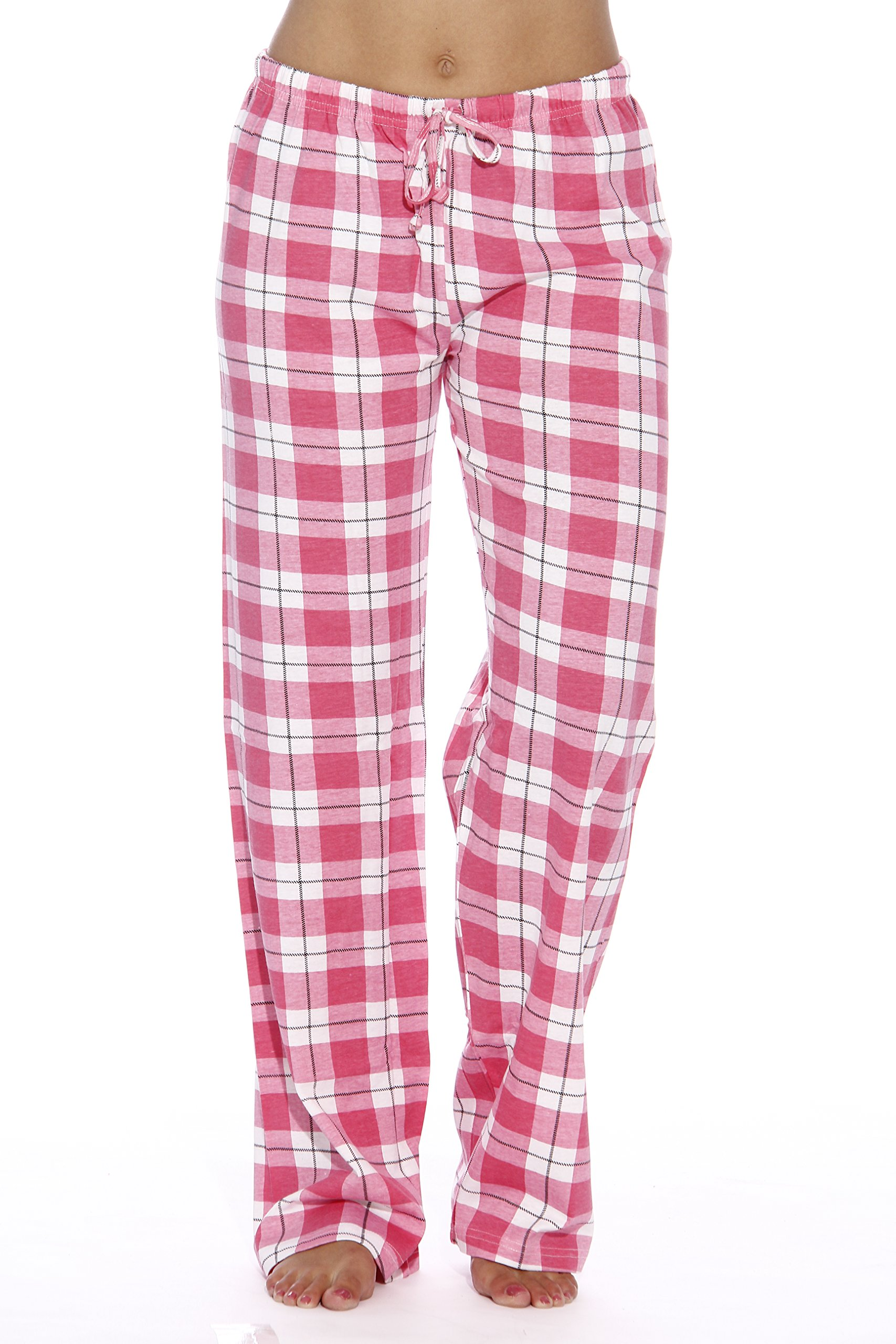 6324-10018-M Just Love Women Pajama Pants / Sleepwear, Plaid Pink