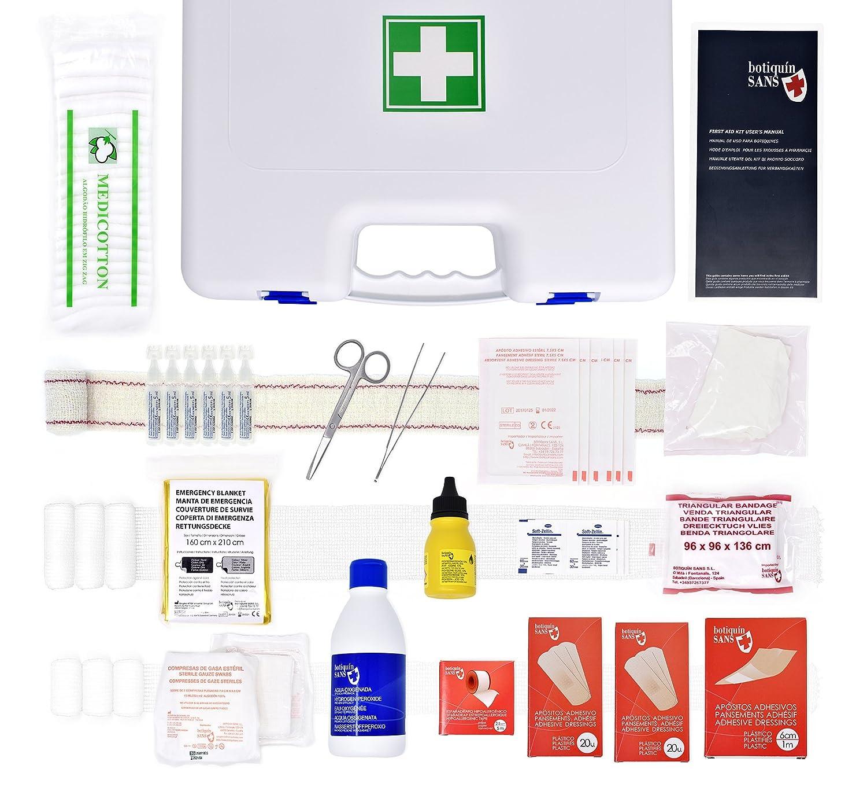 Botiquí n Maletí n Primeros Auxilios GRANDE 100 artí culos (BLANCO) Botiquín Sans - Especialistas en botiquines de primeros auxilios