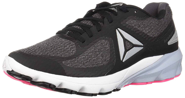 Reebok Women's Harmony Road 2 Sneaker B073RJFH8K 7 B(M) US|Black/Ash Grey/White/Solid Pink