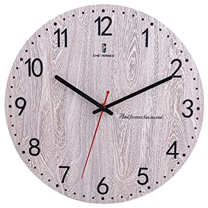 Amazoncom Yifan 12 Inch Silent Wall Clock Battery Operated Non
