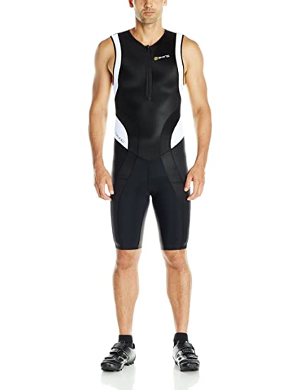 e1f4363824c Amazon.com   SKINS Men s Tri 400 Triathlon Skinsuit with Front Zip ...