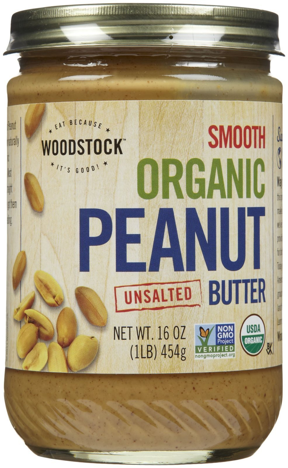 Woodstock Smooth Organic Peanut Butter Unsalted by Woodstock Farms