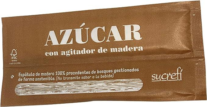 ESSENZIA - Azúcar en sobres individuales con agitador de madera - Caja 1000 uds: Amazon.es: Alimentación y bebidas