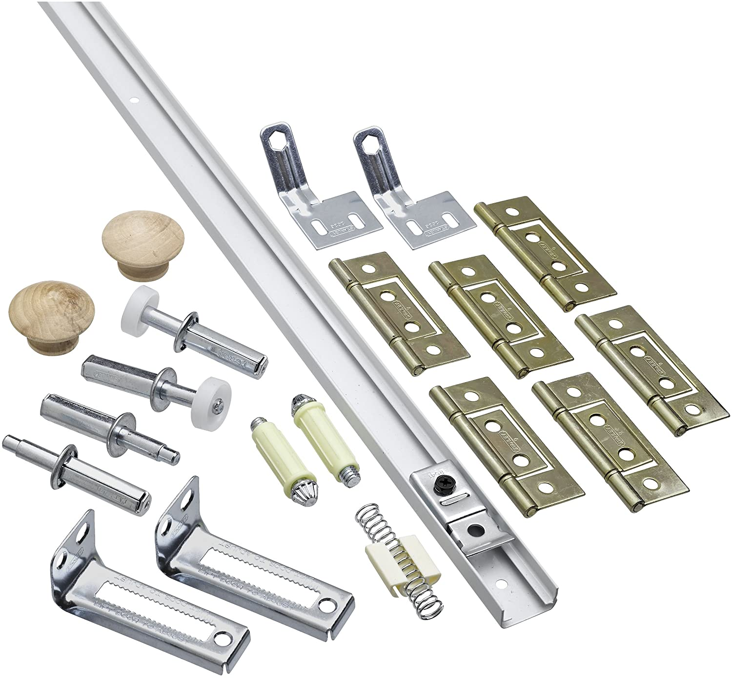 National Hardware N343 749 391D Folding Door Hardware Set in White