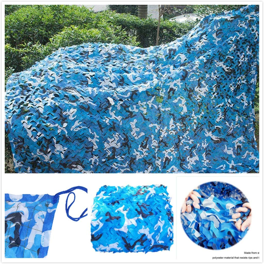アーミーネットカモフラージュミリタリー強化ブルーキャノピー狩猟用キャンプガーデンガゼボテラス温室パーゴラデコレーション3x4m 6x8m 12m 10mシェード帆布パティオ用サンシェード (Size : 5*10M)  5*10M