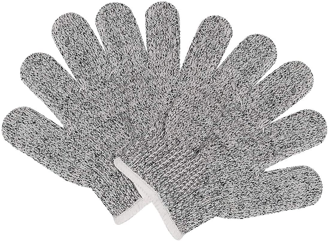 QWORK Cut Resistant Gloves for Children, Food Grade, High Performance Level 5 Protection