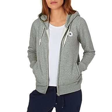 6fad3eb7acf4 Converse Hoodies Core Full Zip Hoody - Vintage Grey Heather  Amazon.co.uk   Clothing