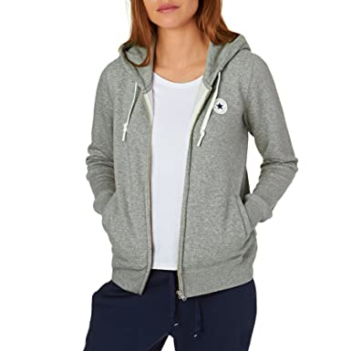 0c7b284899b9 Converse Hoodies Core Full Zip Hoody - Vintage Grey Heather  Amazon.co.uk   Clothing
