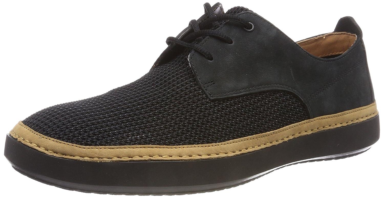 Clarks Komuter Spark, Zapatos de Cordones Derby para Hombre 41.5 EU|Negro (Black -)