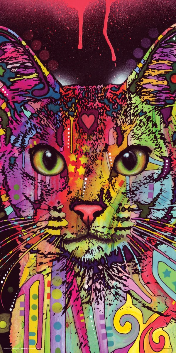 Culturenik Dean Russo Cat Whiskers Modern Animal Decorative Art Print (Unframed 12x24 Poster) - High Quality Print Published EXCLUSIVELY by Culturenik in the USA. ***Great Wall Décor AND THE PERFECT GIFT*** 24 by 36 Inch Print - Ships protected in sturdytube. - wall-art, living-room-decor, living-room - 81Gkk2P2wqL -