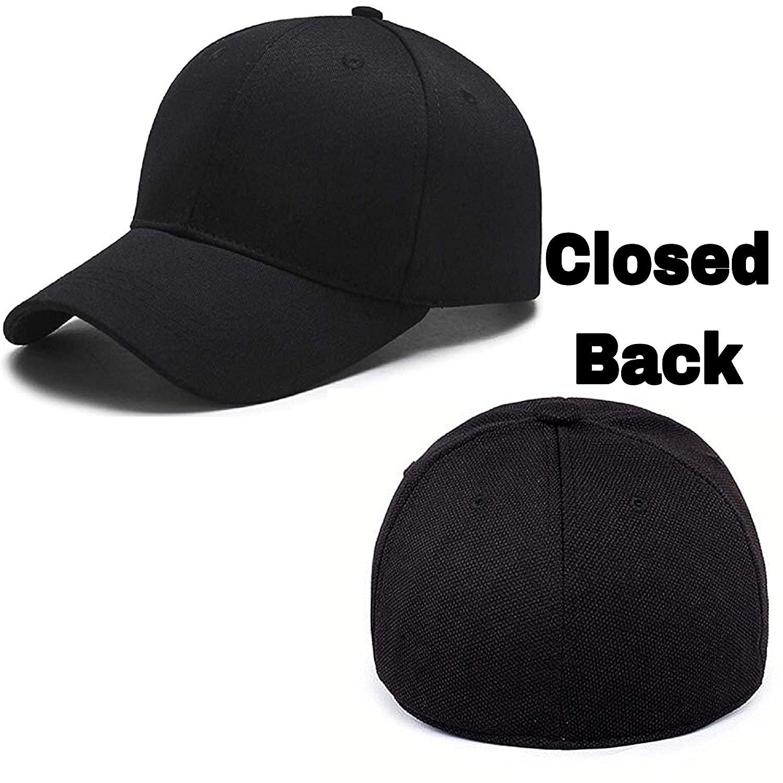 e7dc27d2cbf MoohMaya Flexifit Backside Closed Caps for Men   Women (Black)  Amazon.in   Clothing   Accessories