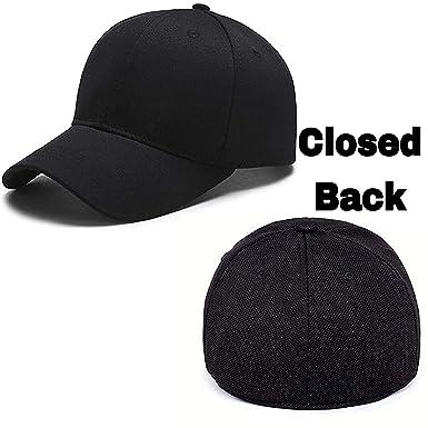 MoohMaya Flexifit Backside Closed Caps for Men   Women (Black ... dacd02a98b1