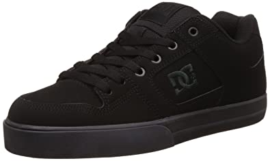 7ba99e4123 DC Men's Pure M Shoe Black and Pirate Black Leather Sneakers - 10 UK/India