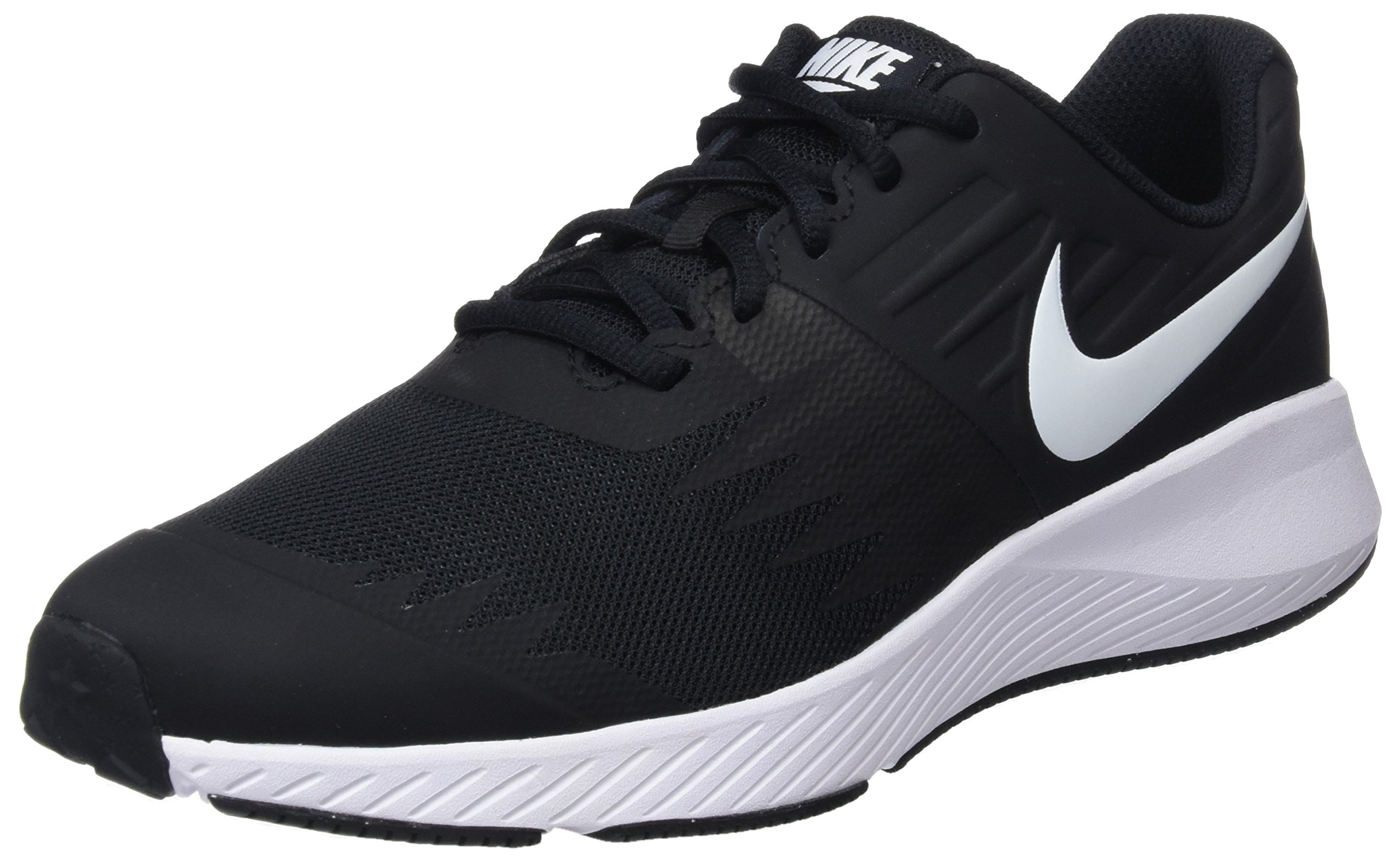 Nike Kids' Grade School Star Runner Running Shoes (3.5, Black/White) by Nike (Image #1)