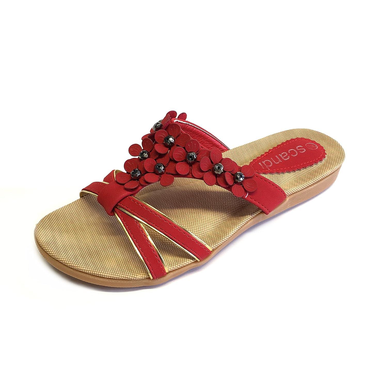 Scandi Damen Pantolette Freizeit - Schuh Slipper Gr. 37-42 Neu Grün 37 IlgN5a1ia