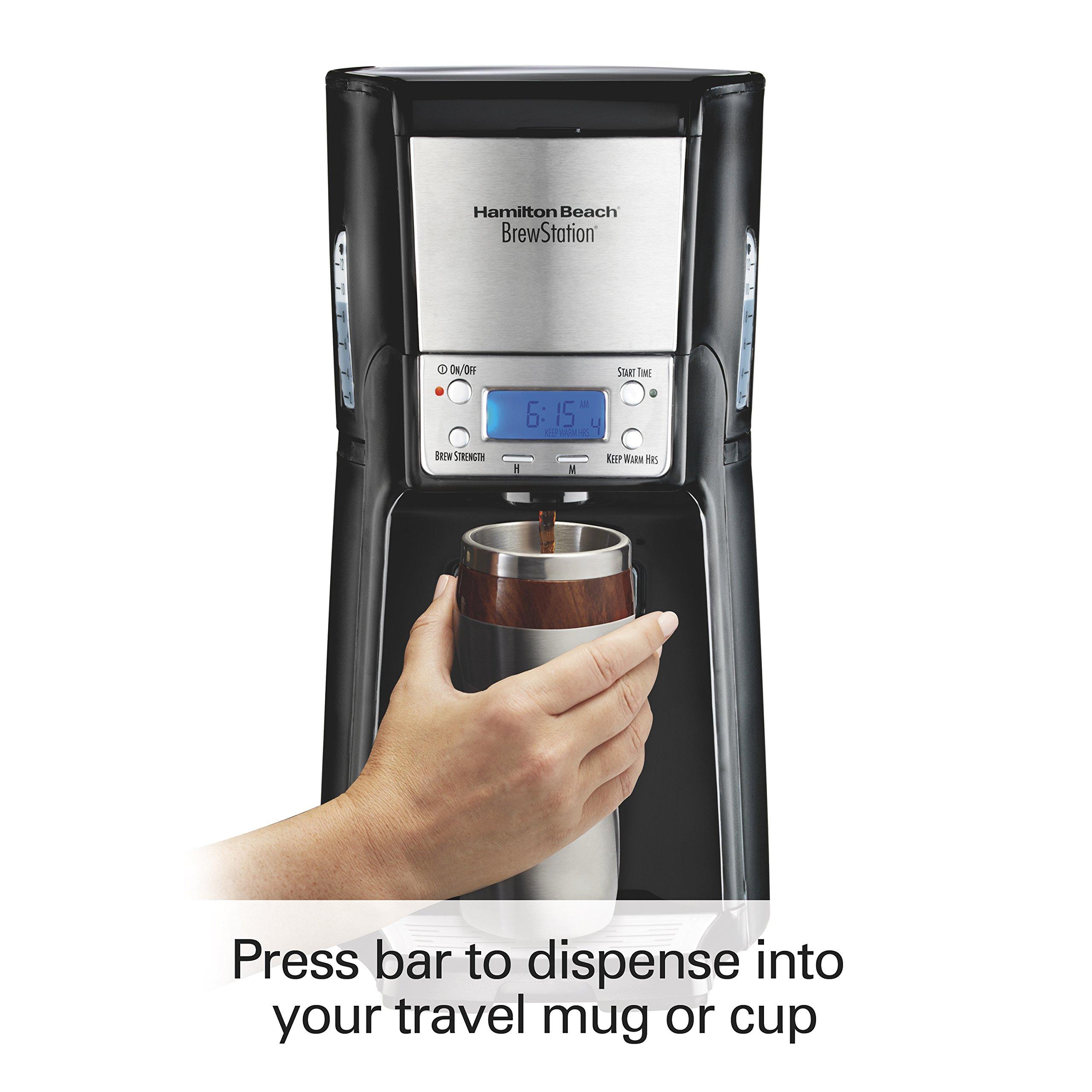 Hamilton Beach (48464) Coffee Maker with 12 Cup Capacity & Internal Storage Coffee Pot, Brewstation, Black by Hamilton Beach (Image #4)