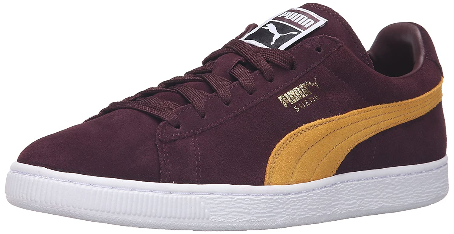 Puma Suede Classic+, Herren High-Top Sneaker  38.5 EU|Winetasting/Bright G