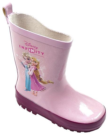 1e794253c55 Niña Disney Infinity Frozen Elsa Rapunzel Wellington Botas De Lluvia Zapato  Tallas desde 8 a 2