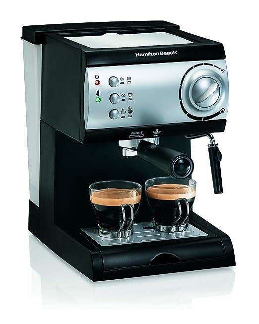 Hamilton Beach 40715 Máquina espresso 2tazas Negro, Plata ...