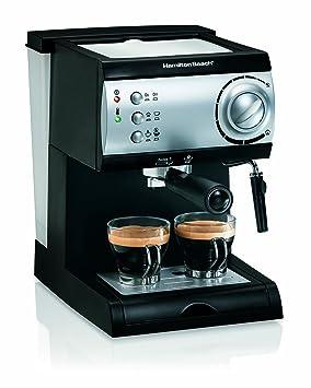Hamilton Beach 40715 Máquina espresso 2tazas Negro, Plata - Cafetera (Máquina espresso, De