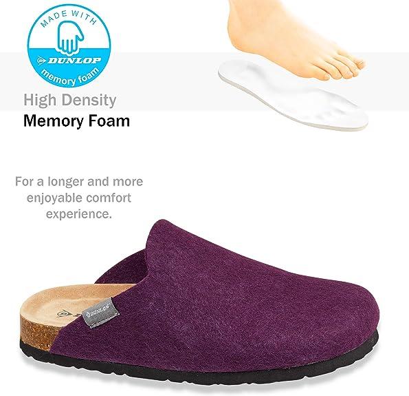 Warm Slipper Damen mit Ged/ächtnis Schaum Anti Rutsch Schuhe Frauen 36-41 Dunlop Hausschuhe Damen Filzpantoffeln Damen und Teenager M/ädchen Damen Geschenke