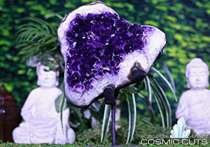 Amazon com: Cosmic Cuts Uruguayan Amethyst Geode 14 00