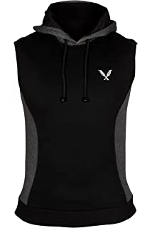 0a1036ba XXR Tempo Sleeveless Hoodie Top Hoodies Hooded Sweat Shirt Gilet Gym  Clothing Running Jogging Exercise Fitness…