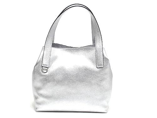 72d04ffe5f Coccinelle borsa donna, BE5 MILA,110201, borsa a spalla pelle, argento  E8102: Amazon.it: Scarpe e borse