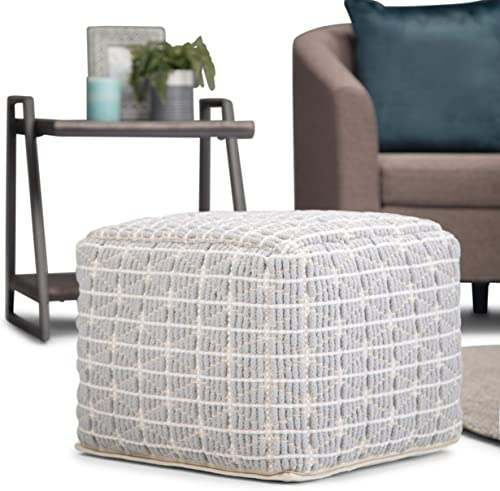 Simpli Home Noreen Square Pouf