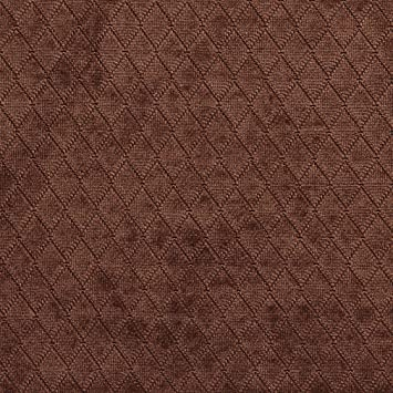 Amazon Com A913 Chocolate Brown Diamond Stitched Velvet Upholstery