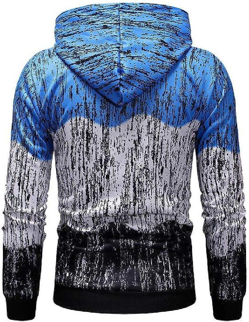 Abeaicoc Mens Slim Long Sleeve Color Block Pullover Hooded Sweatshirt