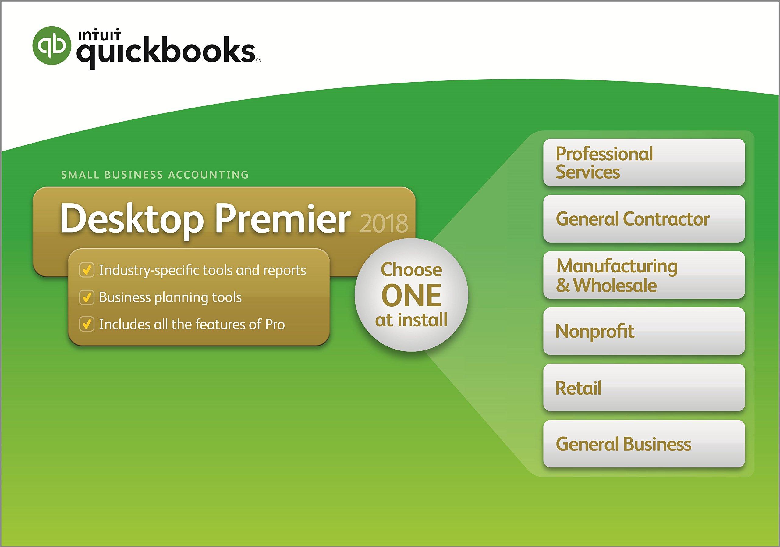 QuickBooks Desktop Premier 2018 5-User by Intuit