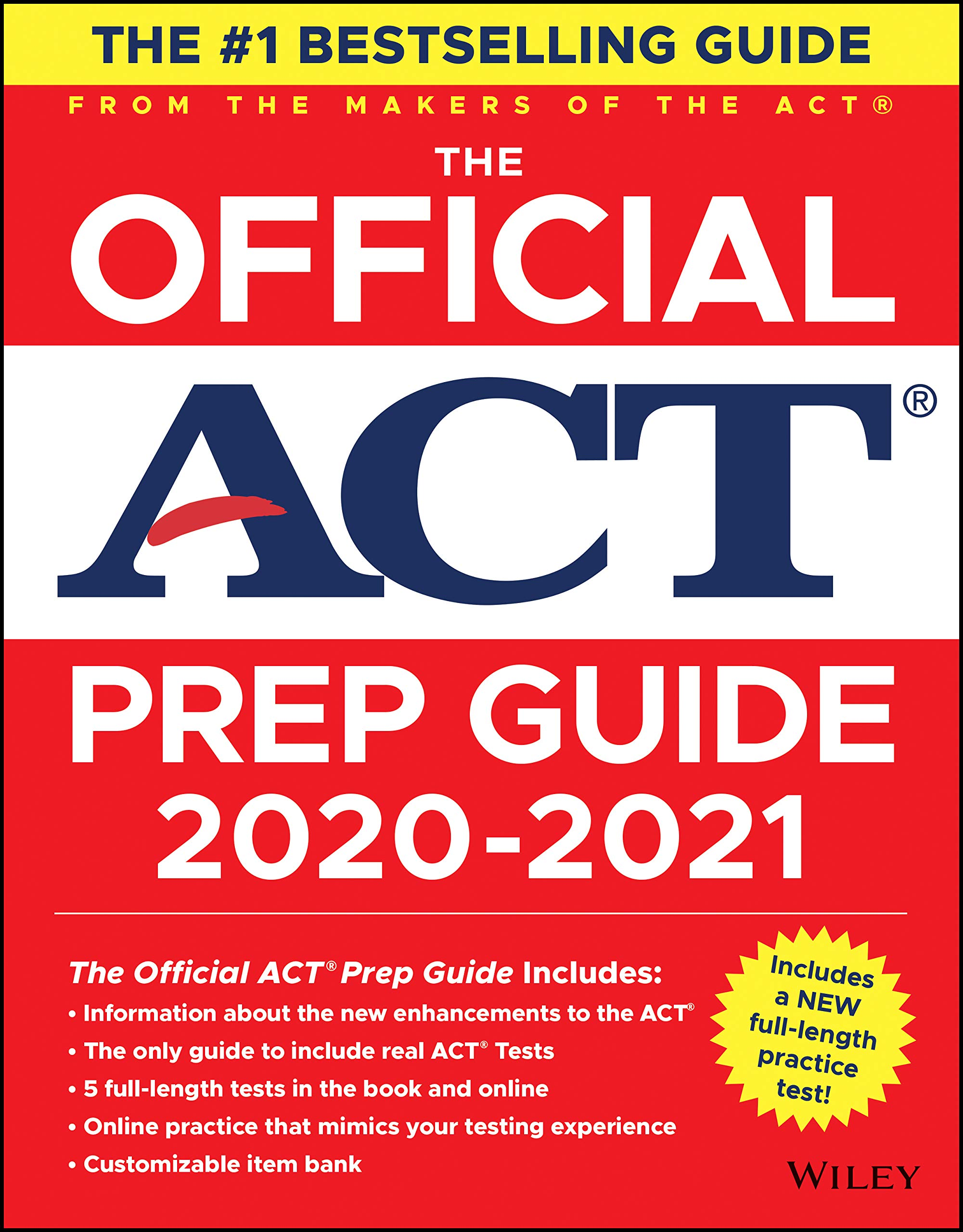 The Official ACT Prep Guide 2020 – 2021, (Book + 5 Practice Tests + Bonus Online Content)