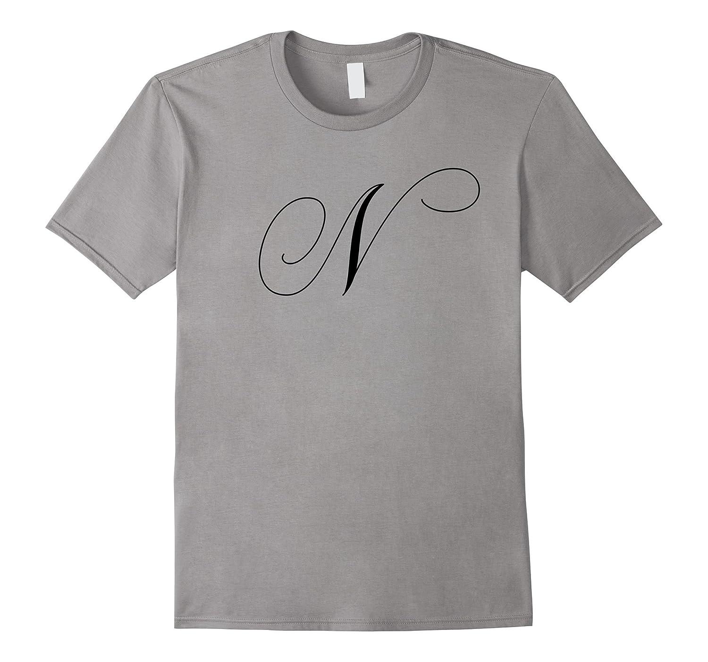 Capital Letter N – Monogram Initial T-Shirt